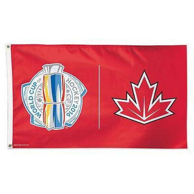 ホッケー NHL カナダ アメリカ 北米 USA メジャー ウィンクラフト WinCraft Canada Hockey 2016 World Cup of Hockey 3' x 5' Deluxe Flag