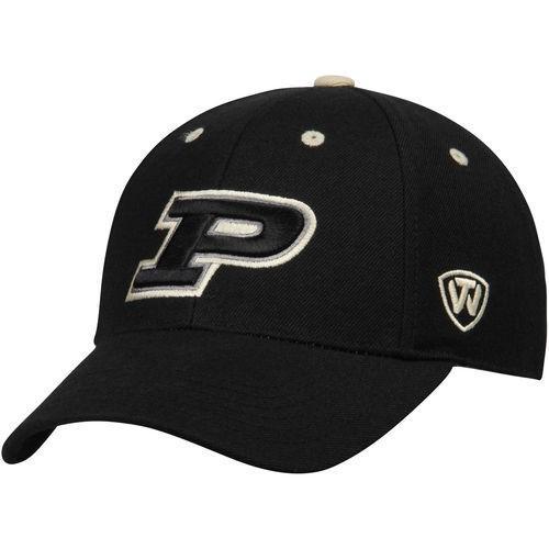 カレッジ NCAA 大学 アメリカ スポーツ USA トップオブザワールド Top of the World Purdue Boilermakers 黒 Dynasty Memory Fit Fitted Hat