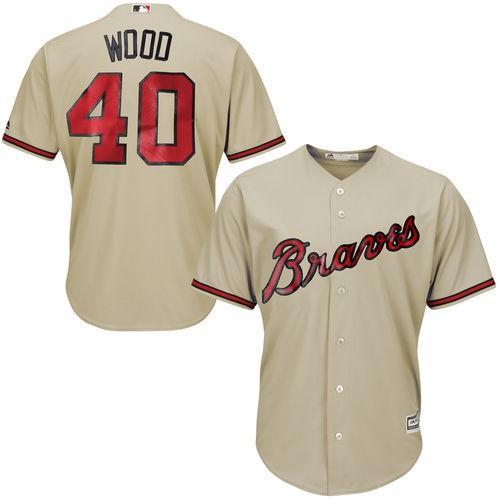 優れた品質 スポーツ ファン ウェア レプリカ ユニフォーム 応援 野球 MLB マジェスティック Majestic Alex Wood Atlanta Braves Tan Cool Base Player Jersey, 日コン 0e4e9f49