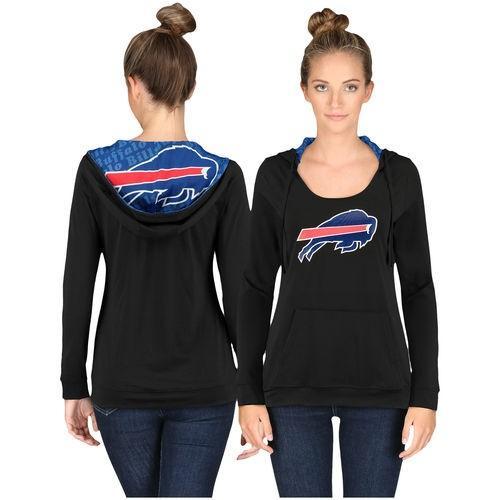 スポーツ ファン ウェア レプリカ ユニフォーム 応援 フットボール NFL Buffalo Bills 黒 Cameo Hooded Long Sleeve T Shirt
