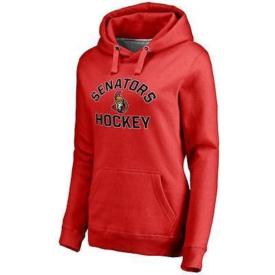 ホッケー NHL カナダ アメリカ 北米 USA メジャー ファナティックス ブランデッド Ottawa Senators Women's 赤 Overtime Pullover Hoodie