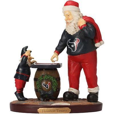 フットボール メジャー USA 全米 アメリカ NFL ザ メモリーカンパニー Houston Texans Checkerboard Santa フィギュア