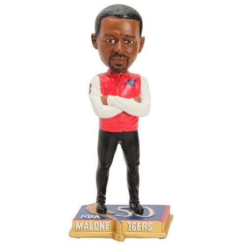 バスケットボール NBA メジャー USA 全米 アメリカ フォーエバーコレクタブルズ Moses Malone Philadelphia 76ers 50 Greatest NBA Players Bobblehead