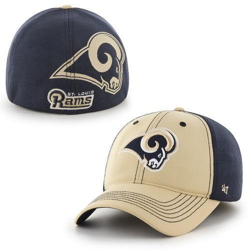 フットボール メジャー USA 全米 アメリカ NFL 海外セレクトブランド 47 ブランド St. Louis Rams ゴールド Reversal Team Closer Flex Hat
