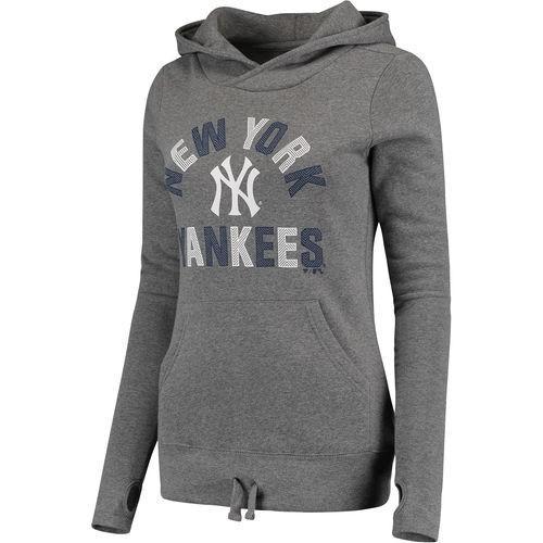 無料配達 全米 アメリカ メジャー 野球 MLB ファナティックス New York Yankees レディース グレー モダン First Time Team ファッション プルオーバーパーカー, 草加市 ba7d3deb