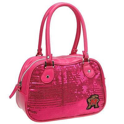 カレッジ NCAAMaryland Terrapins Women's Sequin Repro Handbag - ピンク