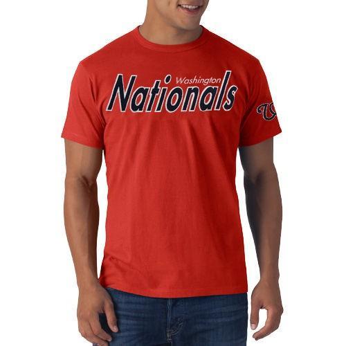 野球 メジャーリーグ MLB 47 ブランド Washington Nationals Allbright Fieldhouse Tシャツ 赤