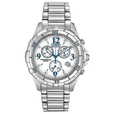 一番人気物 シチズン New Citizen エコドライブ レディース スポーツ クロノグラフ ステンレス スチール 腕時計 FB1350-58A, JISSO MART 7e8d992f