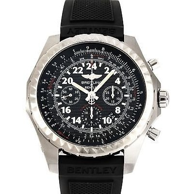 最新入荷 ブライトリング 腕時計 Breitling Auto Bentley スチール クロノグラフ 24 Hour AB022022/BC84 Auto スチール ブラック ストラップ メンズ 腕時計 AB022022/BC84, 温泉町:d43c777d --- airmodconsu.dominiotemporario.com