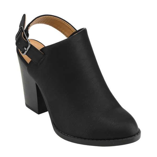 人気ブランドの ブーツ シューズ 靴 デリシャス レディース Chunky Slingback ハイ 靴 Chunky Slingback ヒール アンクルブーティーs ブラック;CAMEL;カーキ;TAN BLACK, Miotto Line (ミュオットライン):1bc09cd6 --- fresh-beauty.com.au