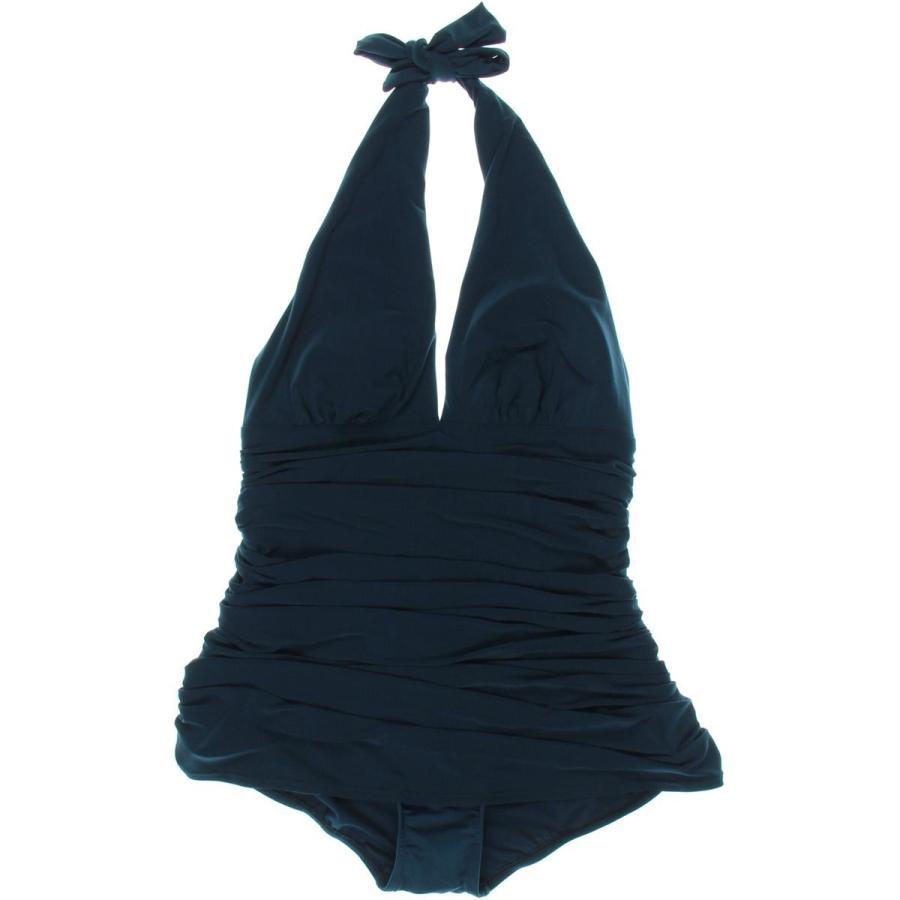 水着 スイムウエア スポーツ Magicsuit Magicsuit 6565 レディース Ruched Halter Molded Cups One-Piece Swimsuit BHFO