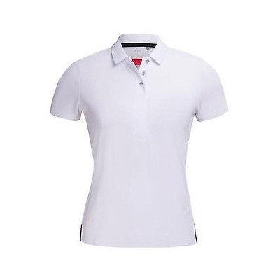 シャツ トップス セーター ニーヴォスポーツ Nivo レディース S/S Solid Polo ホワイト X-スモール ゴルフ shirt