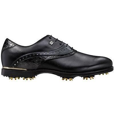 ゴルフ シューズ フットジョイ Footjoy Icon ブラック ゴルフ シューズ ブラック/ブラック Croc 8 ミディアム- Closeout 52036