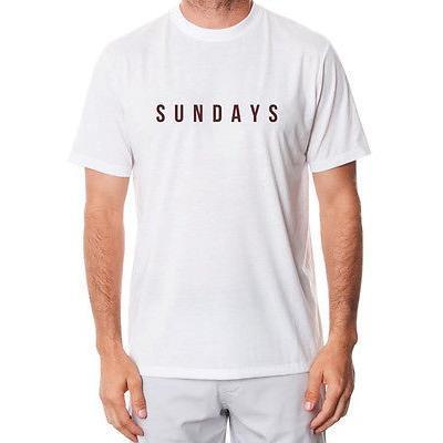 距離計 スコープ マットグレー Matte グレー Sundays Tee ホワイト X-ラージ -メンズ ゴルフ shirt
