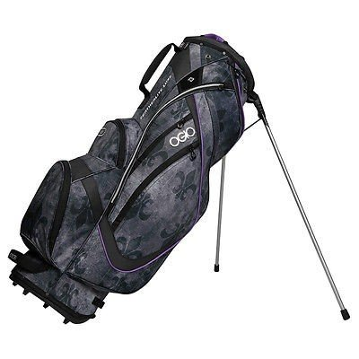 最高級 ゴルフクラブバッグ オジオ Ogio レディース Featherlite Luxe Stand バッグ Fleur De Lis/パープル レディース ゴルフ バッグ, ちあふるマーケット 10615d49