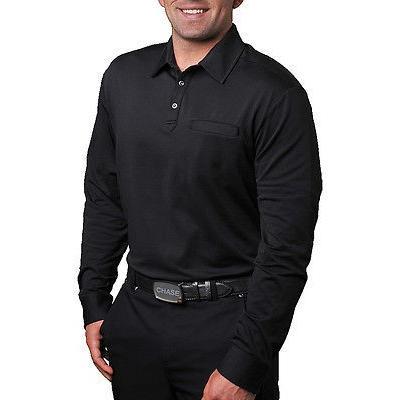 シャツ トップス トップス トップス セーター CHASE54 Chase 54 Lenox L/S Polo ブラック スモール ゴルフ shirt 052