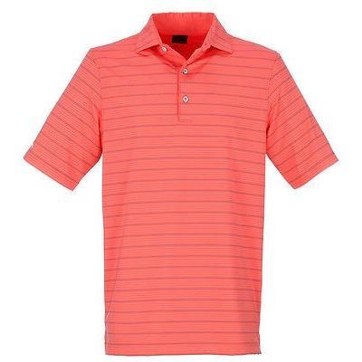 ゴルフウェアボトムス グレグ ノーマン Greg Norman Harbor ストライプd Polo Daiquiri ラージ -メンズ ゴルフ shirt
