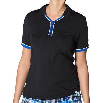 シャツ トップス セーター ジージーブルー GG ブルー レディース Kira Top ブラック/Royal/ホワイト スモール ゴルフ shirt