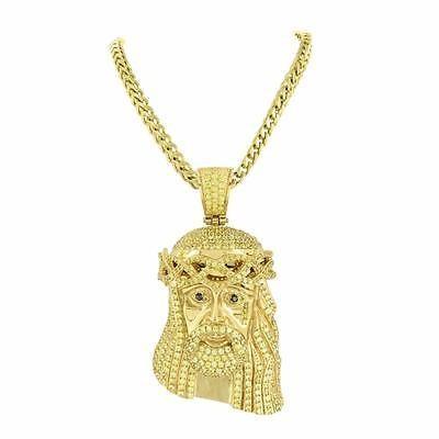世界的に有名な ジュエリー チェーン ネックレス マスターオブブリング Jesus Christ ペンダント ティア ドロップ Simulated ダイヤモンド ステンレス スチール Chain イエロー, ももの和 2963fb30