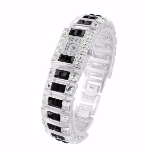 お気にいる ジュエリー カット腕時計 腕時計 ジェネバ Geneva レディース プリンセス カット腕時計 ブラック Platinum ホワイト クリスタル ストーンs Geneva Platinum Unique, テラリウムインテリアtakara:5f951f89 --- airmodconsu.dominiotemporario.com