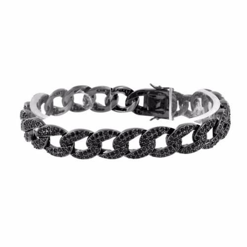 人気ブランドを ジュエリー 腕時計ブレスレット マスターオブブリング ブラック Miami Cuban ブレスレット ブラック Simulated ダイヤモンドs Custom デザイン Fancy On Sale, 新未来創造 1070c483