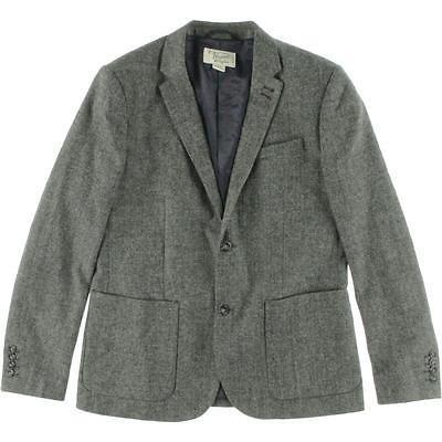 ブレザー&スポーツコート Penguin By Munsingwear ペンギン By Munsingwear 8458 メンズ ブラック ウール Blend Two-Button Suit ジャケット L BHFO