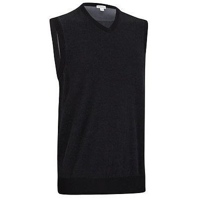 シャツ トップス セーター アシュワース Ashworth Pima コットン セーター Vest ブラック ラージ