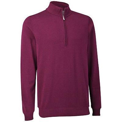 シャツ トップス セーター アシュワース Ashworth Pima コットン 1/2 ジップ セーター Potent パープル スモール