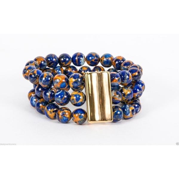 大切な ブレスレット サイモンセバグ Simon Sebbag 3 サイモンセバグ ブレスレット 3 String Bluegold Jasper Stretch Bracelet Sterling Silver B112/BGIS, ゴルフシティアルド:25aef3bf --- levelprosales.com