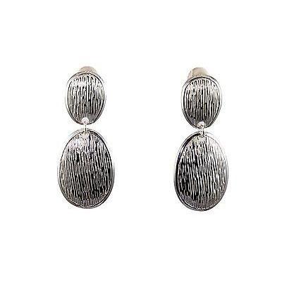 トップ ジェムストーン サイモンセバグ Earrings Simon Clip Sebbag E2840/CL Sterling Silver Double Wrap Oval Clip Earrings E2840/CL, 新島村:7453b2de --- airmodconsu.dominiotemporario.com