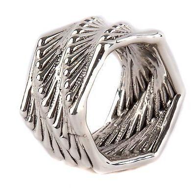 芸能人愛用 アクセサリー バットアミ Bat-Ami Prosecco Sterling Silver Band Ring R3293 size 8.5, フォーマル子供服専門店KAJIN 2cd652a9