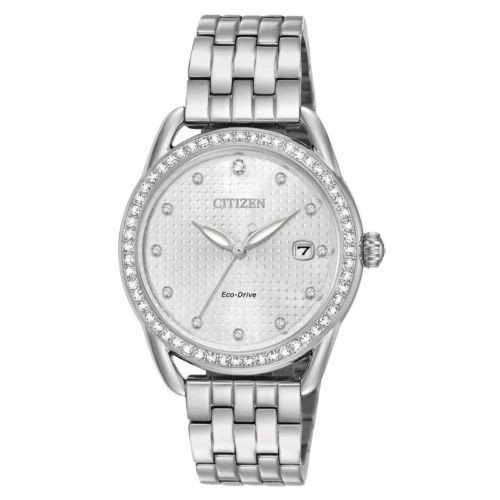 春夏新作モデル 腕時計 シチズン Citizen FE6110-55A Womens Silver Dial Steel Bracelet Crystal Watch, blueowl d2cbc67e