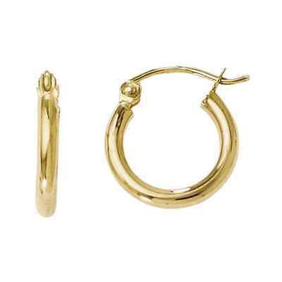 【新品本物】 ストーンのついていない貴金属 Earrings 海外セレクション Versil Versil 14k Gold Medium Polished Medium Hoop Earrings, ミュゼデュ:40bfeef3 --- airmodconsu.dominiotemporario.com