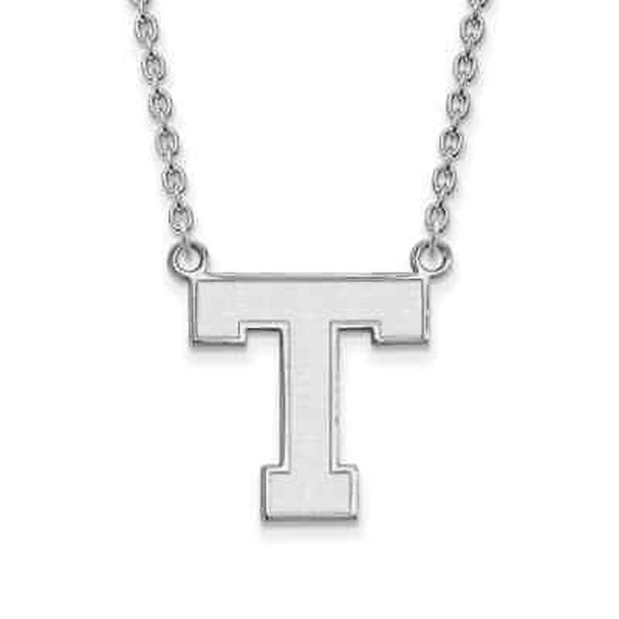 【60%OFF】 ストーンのついていない貴金属 ロゴアート Sterling Silver LogoArt Tarleton State University Large Pendant with Necklace, StarMart fbdf5b36