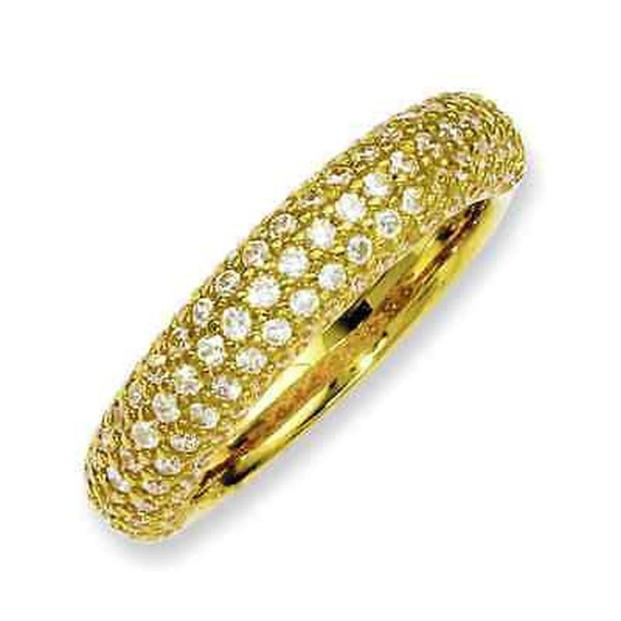 熱販売 CZ モアッサナイト 113-stone 模擬 海外セレクション Versil Yellow Gold Zirconia over 模擬 Silver 113-stone Cubic Zirconia Ring, ワークライブ:39868c66 --- airmodconsu.dominiotemporario.com
