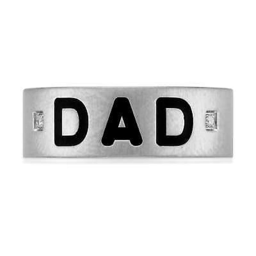 大特価 リング アンエンディングラブ リング Ring Unending Love Men's Stainless Steel Diamond Accent Stainless 'Dad' Ring, 睡眠ハウスたかはら:eb48a01e --- airmodconsu.dominiotemporario.com