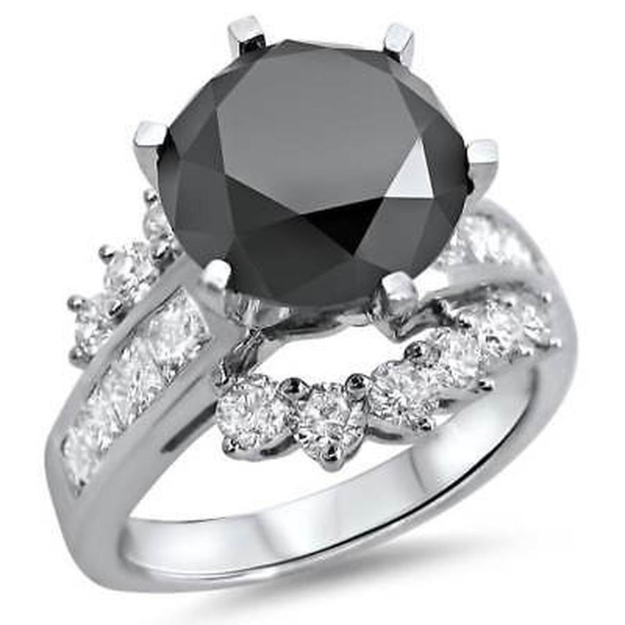 【最新入荷】 海外セレクション 婚約指輪 Noori 14k White Gold 4 1/2ct TDW Black Diamond Engagement Ring, FLATOUT d06ee140