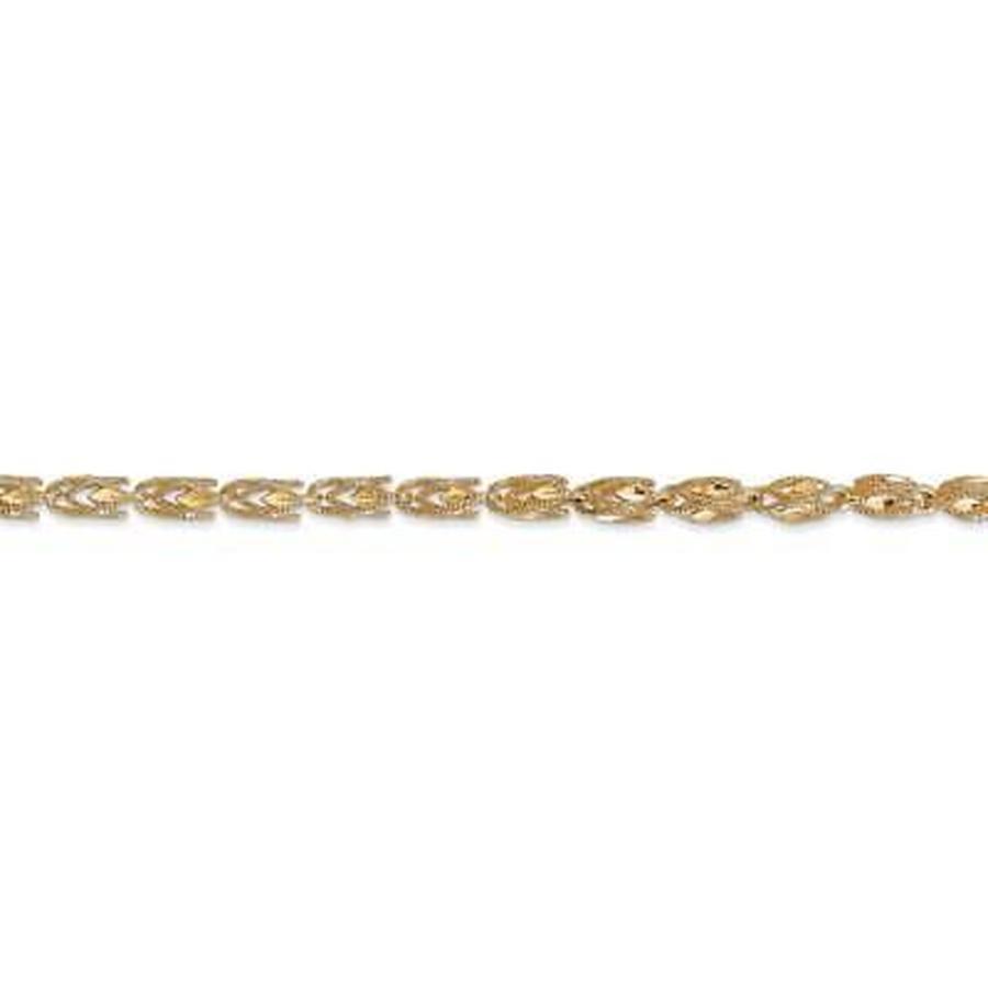 最新 Versil 海外直輸入ブランドアクセサリー 14k イエロー ゴールド 3.5mm Marquise チェーン Necklace, ベストHBI 7ac37bcc