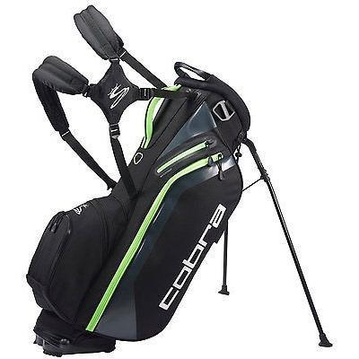 ゴルフ用品ゴルフバッグNew Cobra Ultraライト ゴルフ スタンド バッグ キャリー 2016 ブラック/グリーン Gecko