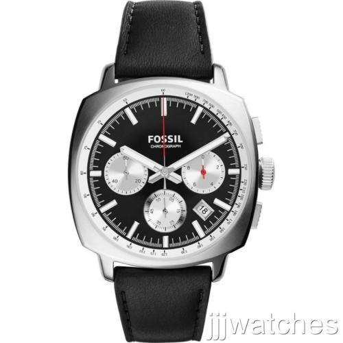 【お1人様1点限り】 腕時計 フォッシル New Fossil Men Haywood Chrono Black Leather Watch 43mm CH2984, Mars shop 2b70208d
