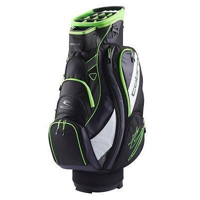 ゴルフ用品ゴルフバッグNew Cobra Tec F6 ゴルフ カート バッグ 2016 ブラック/グリーン Gecko 14-Way Top Full Dividers