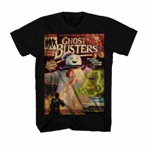 ゴーストバスターズ Tシャツ トップス ウエア Ghostbusters Bustin Covers オフィシャル ライセンス グラフィック Tシャツ|pandastore