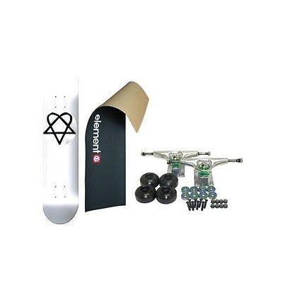 スケボー 海外セレクション スケートボードコンプリート ELEメンズT スケートボード スケボ LOGO Grip heartAGRAM BB ホワイト 7.5 in