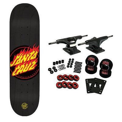 スケボー サンタクルーズ スケートボードコンプリート SANTA CRUZ スケートボード スケボ Complete FLAME DOT 8.6'