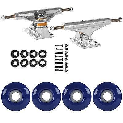 スケボー トラック スケートボード ロングボード スケートボード スケボ パッケージ Independent 149 トラック 52ミリ ネイビー ブルー Abec 7 Bearing