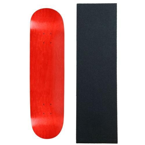 スケボー ムース デッキ スケートボード ロングボード MOOSE Blank スケートボード スケボ DECK 7.75 レッド スケートボード