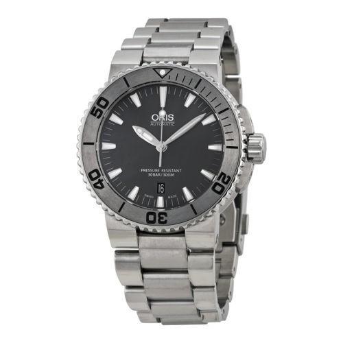 新発売 腕時計 メンズ 海外セレクション 腕時計 Oris Aquis Aquis Date ダーク グレー ダイヤル ステンレス スチール メンズ 腕時計 733-7653-4153MB, Mプライス:1a1f1a1b --- airmodconsu.dominiotemporario.com