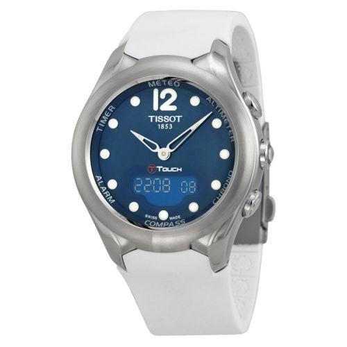 若者の大愛商品 腕時計 ティソット Tissot T-Touch ソーラー ブルーダイヤル ホワイト ラバー レディース 腕時計 T0752201704700, スポーツアオモリ bb423f6d