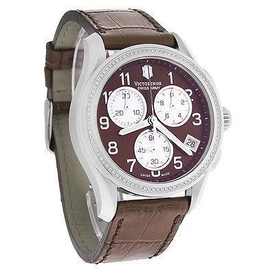 セットアップ 腕時計 スイスアーミー Victorinox スイス Army クラシック クロノグラフ レディース ダイヤモンド ブラウン 腕時計 241420, オオサキ acf91342