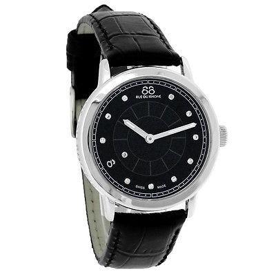 色々な 腕時計 88リュードゥローヌ 88 Rue Du Rhone Rue ダブル 8 88 Origin Du レディース ダイヤモンド ブラック レザー 腕時計 87WA120020, サザンストリート:bf35c332 --- airmodconsu.dominiotemporario.com